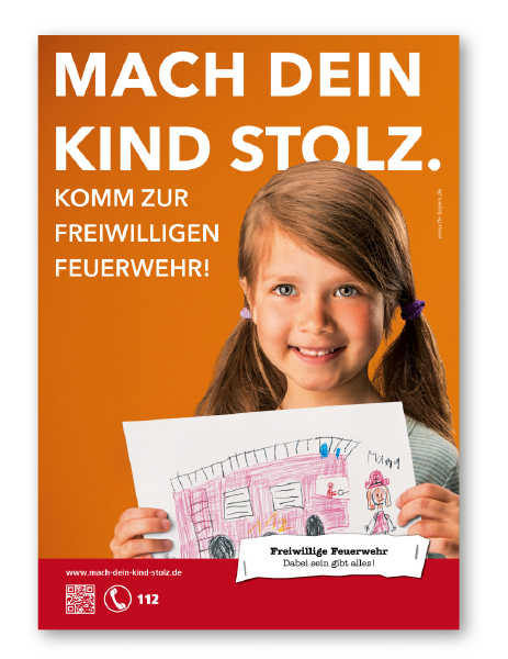 Werbemittel Plakat Hoch Motiv Orange